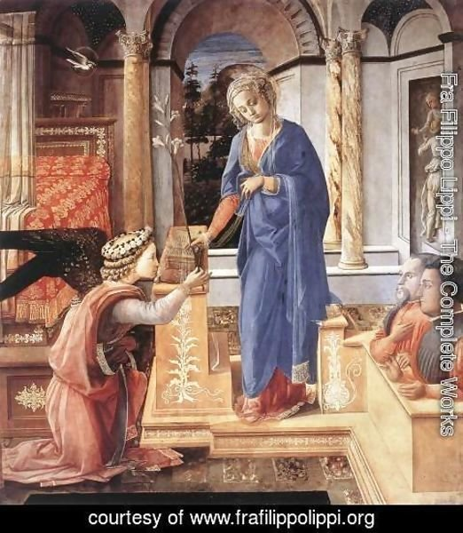 Fra Filippo Lippi - The Annunciation with two Kneeling Donors