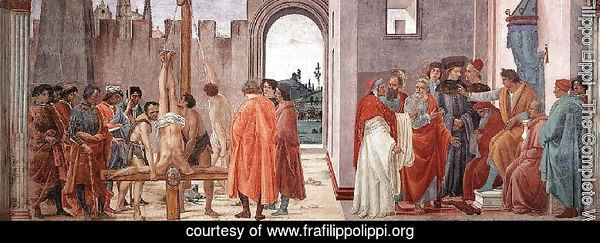 Crucifixion of St. Peter and Disputation with Simon Magus before the Emperor Nero