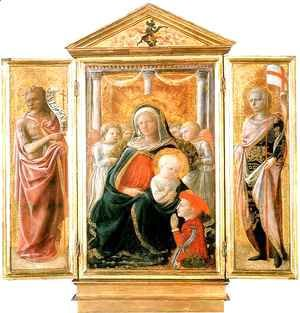 Fra Filippo Lippi - Madonna of Humility with Angels and Donor