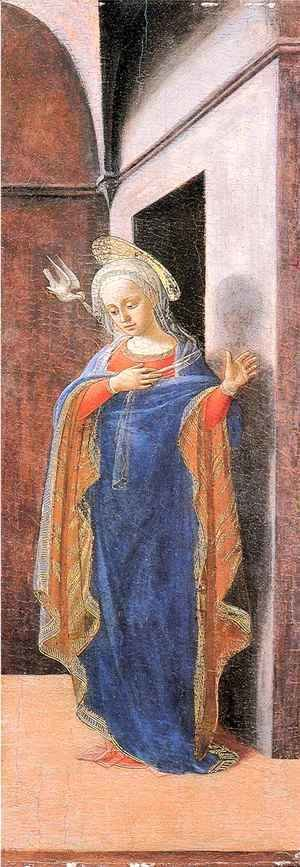 Fra Filippo Lippi - Annunciation, right wing