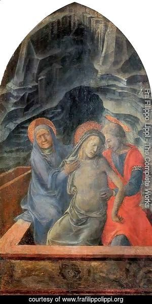 Fra Filippo Lippi - Dead Christ Supported by Mary and St John the Evangelist