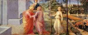 Fra Filippo Lippi - Meeting of Joachim and Anna at the Golden Gate
