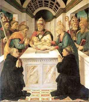 Fra Filippo Lippi - Adoration of the Child with Saints