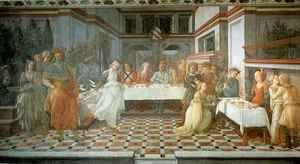 Fra Filippo Lippi - Stories from the Life of St John the Baptist Beheading of St John the Baptist