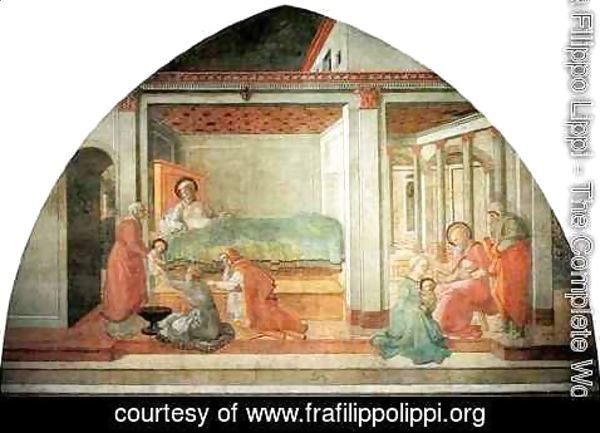 Fra Filippo Lippi - Stories from the Life of St John the Baptist Birth and Naming of St John the Baptist
