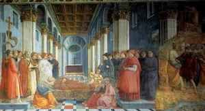 Fra Filippo Lippi - Stories from the Life of St Stephen Funeral of St Stephen