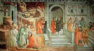 Fra Filippo Lippi - Stories from the Life of St Stephen Mission of St Stephen