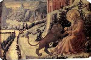 Fra Filippo Lippi - St Jerome and the Lion