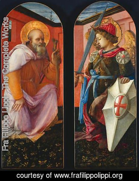 Fra Filippo Lippi - Saint Anthony and Archangel Michael