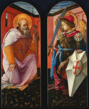 Saint Anthony and Archangel Michael