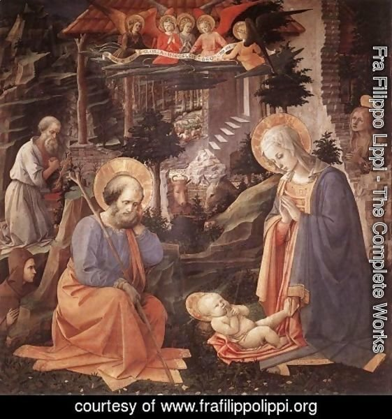 Fra Filippo Lippi - Adoration of the Child c. 1455