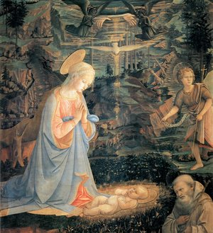 Adoration of the Child with Saints c. 1463