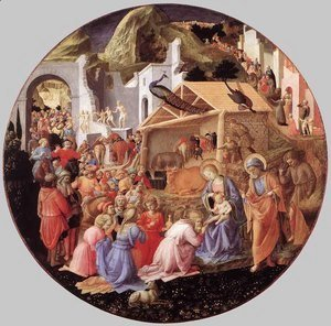 Fra Filippo Lippi - Adoration of the Magi c. 1445