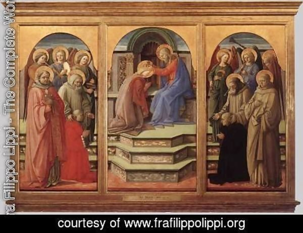 Fra Filippo Lippi - Coronation of the Virgin 1441-45
