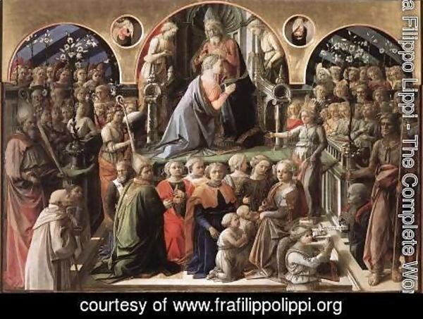 Fra Filippo Lippi - Coronation of the Virgin 1441-47