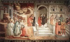 Fra Filippo Lippi - Disputation in the Synagogue 1452-65