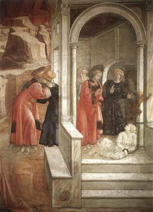 Fra Filippo Lippi - Disputation in the Synagogue (detail-2) 1452-65