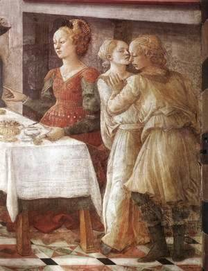 Fra Filippo Lippi - Disputation in the Synagogue (detail-3) 1452-65