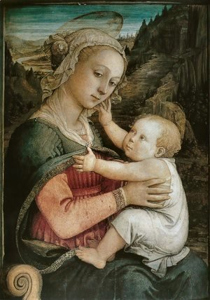 Fra Filippo Lippi - Madonna and Child 1460s