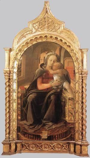 Fra Filippo Lippi - Madonna with Child (Tarquinia Madonna) 1437