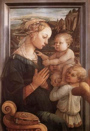 Fra Filippo Lippi - Madonna with the Child and two Angels 1465