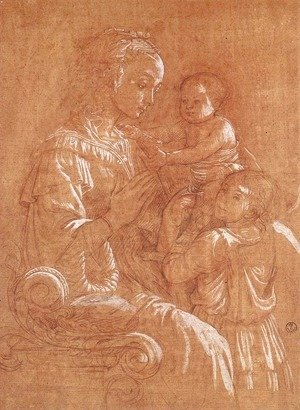 Fra Filippo Lippi - Madonna with the Child and two Angels