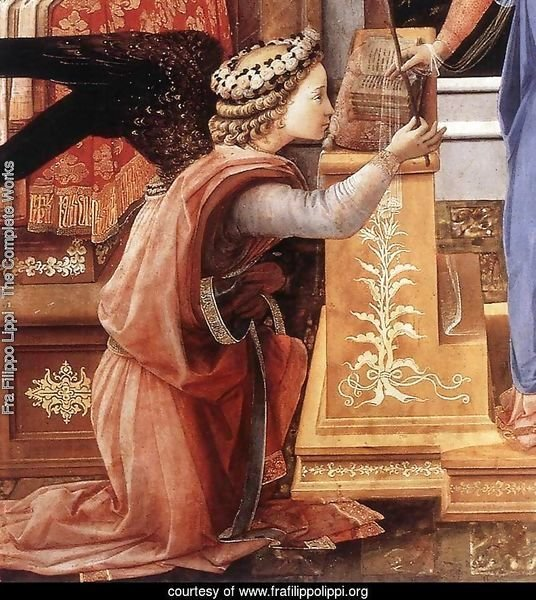 The Annunciation with two Kneeling Donors (detail-1) c. 1440