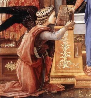 Fra Filippo Lippi - The Annunciation with two Kneeling Donors (detail-1) c. 1440
