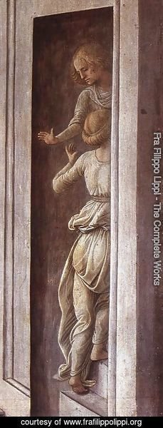 Fra Filippo Lippi - The Annunciation with two Kneeling Donors (detail-2) c. 1440
