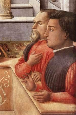 Fra Filippo Lippi - The Annunciation with two Kneeling Donors (detail-3) c. 1440
