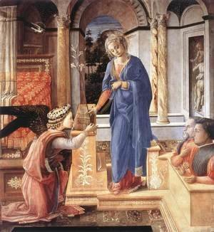 Fra Filippo Lippi - The Annunciation with two Kneeling Donors c. 1440