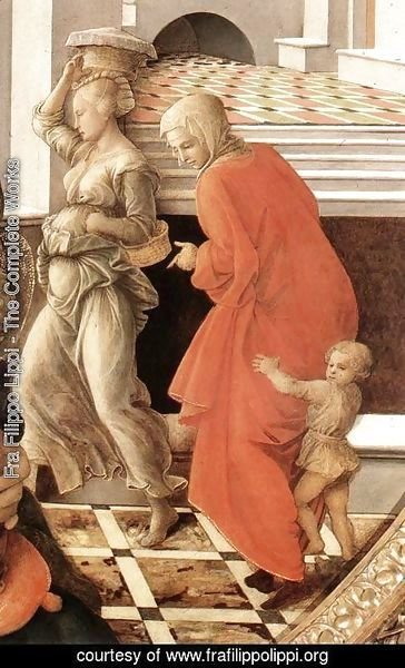 Fra Filippo Lippi - Virgin with the Child and Scenes from the Life of St Anne (detail) 1452