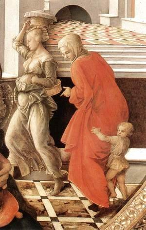 Virgin with the Child and Scenes from the Life of St Anne (detail) 1452